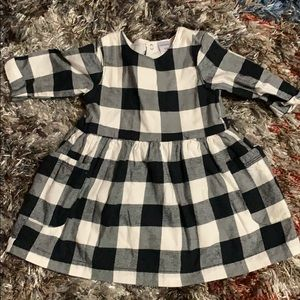 Cute black and white baby dress